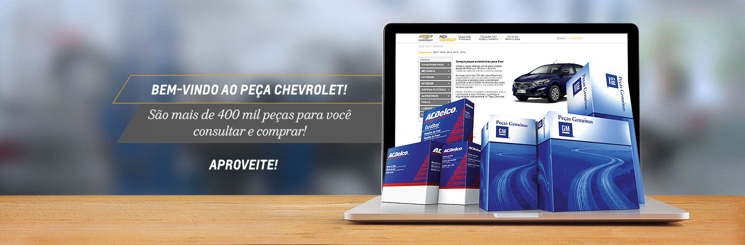 Peças Chevrolet, bem vindo a loja online