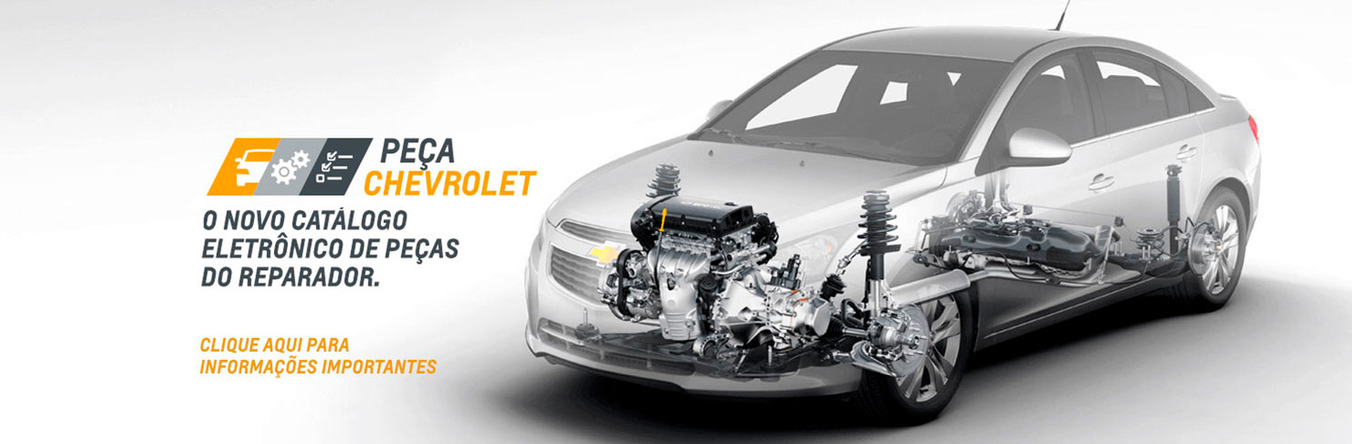 Novo catálogo de peças Chevrolet